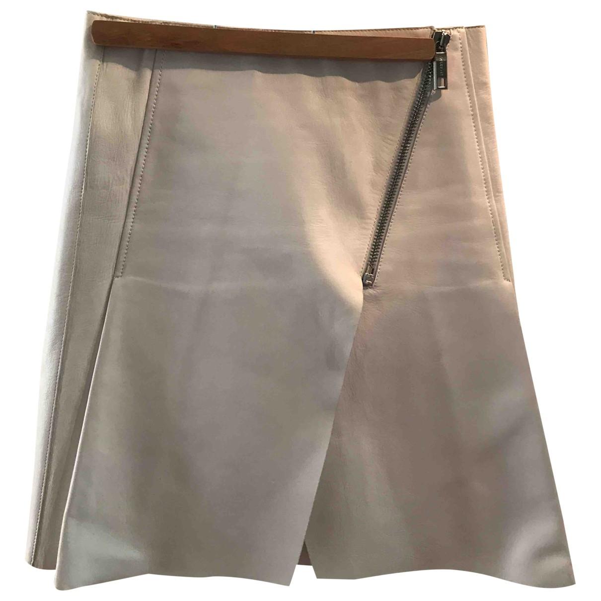 Sport Max - Jupe   pour femme en cuir - blanc