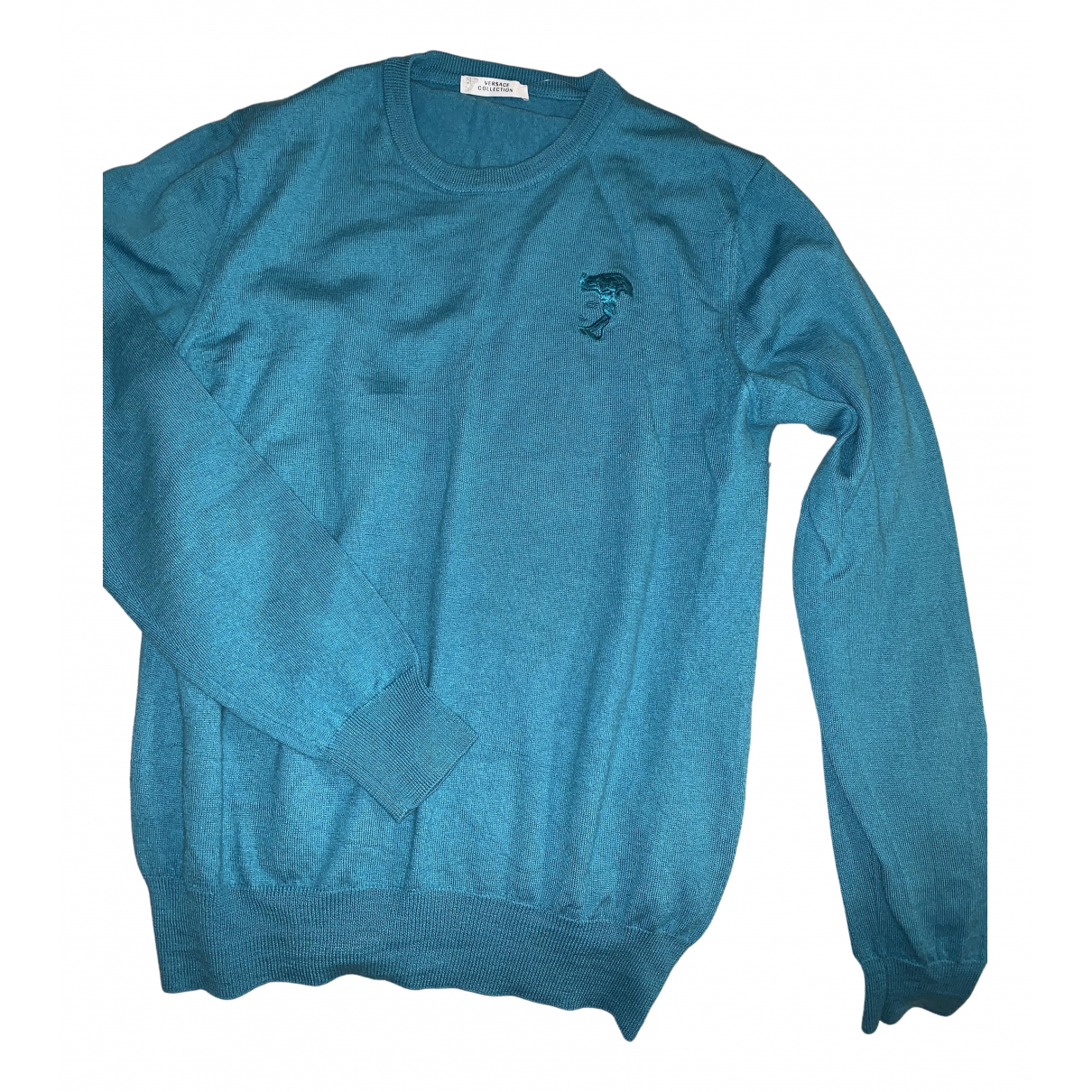 Versace N Turquoise Wool Knitwear & Sweatshirts for Men L International