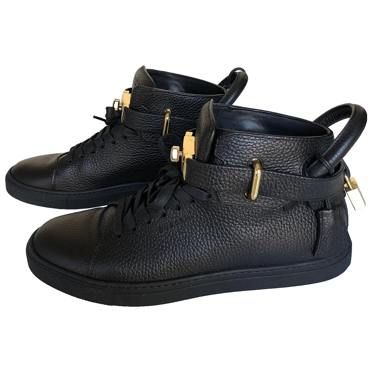 Buscemi - Baskets   pour homme en cuir - noir