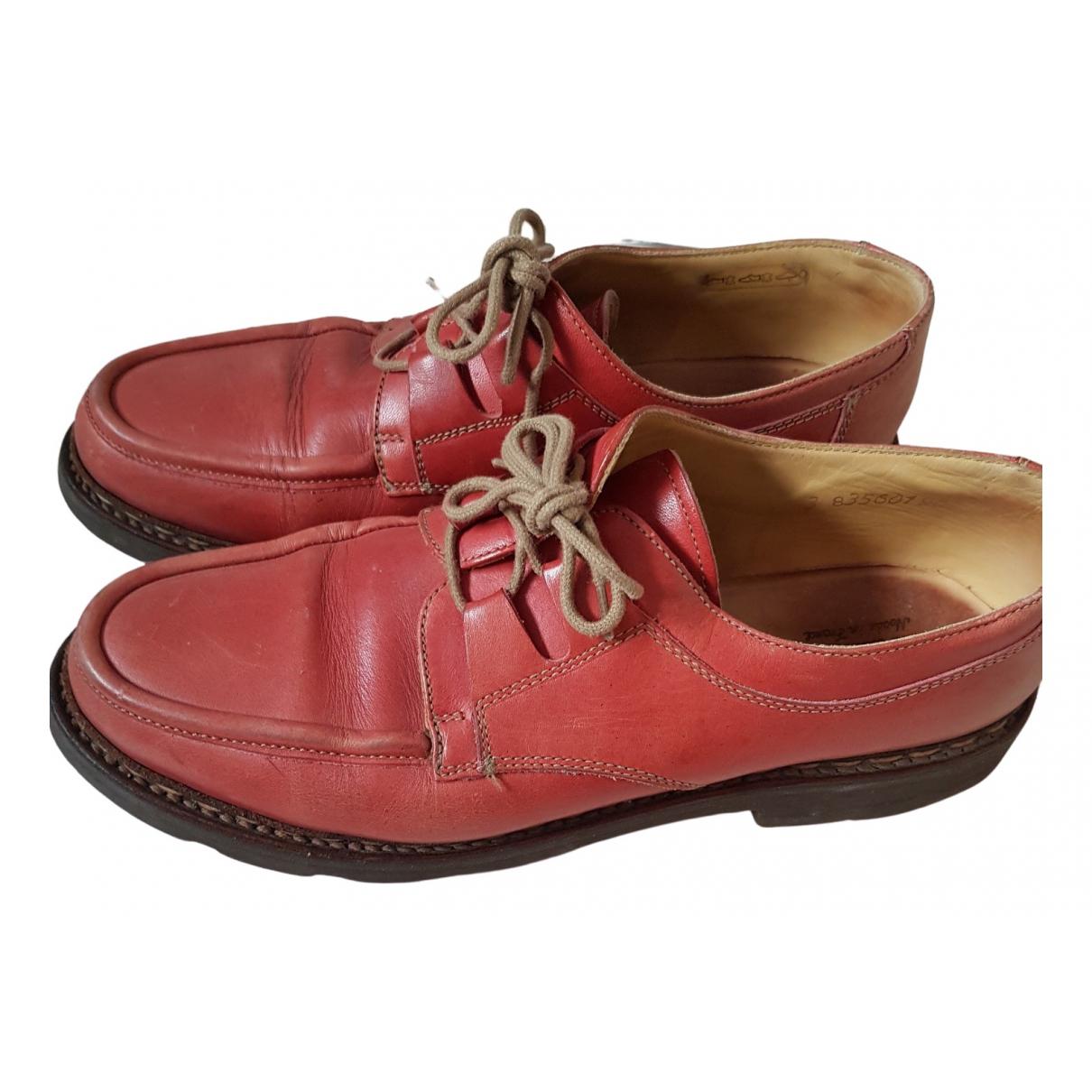 Bowen \N Schnuerschuhe in  Rot Leder