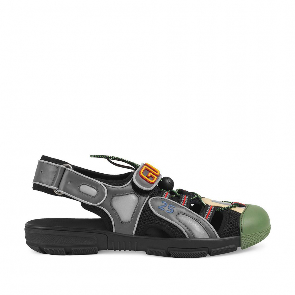 Gucci N Green Leather Sandals for Women 9 US