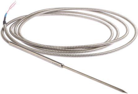 Jumo 3 wire PT100 Sensor, -50°C min +260°C max, 150mm Probe Length x 5mm Probe Diameter