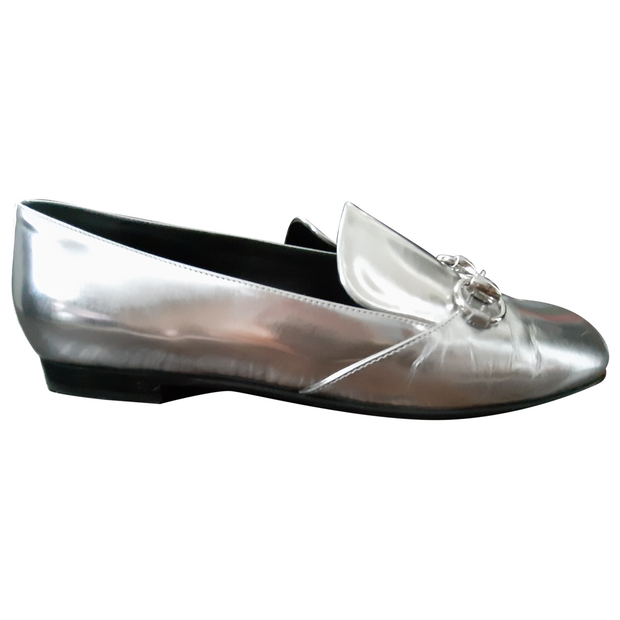 Gucci \N Silver Leather Ballet flats for Women 40 EU