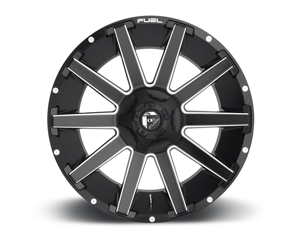 Fuel D616 Contra Matte Black & Milled 1-Piece Cast Wheel 20x10 5x139.7|5x150 -18mm