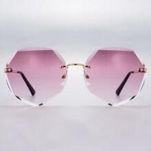 Gafas de sol de marco poligono sin montura