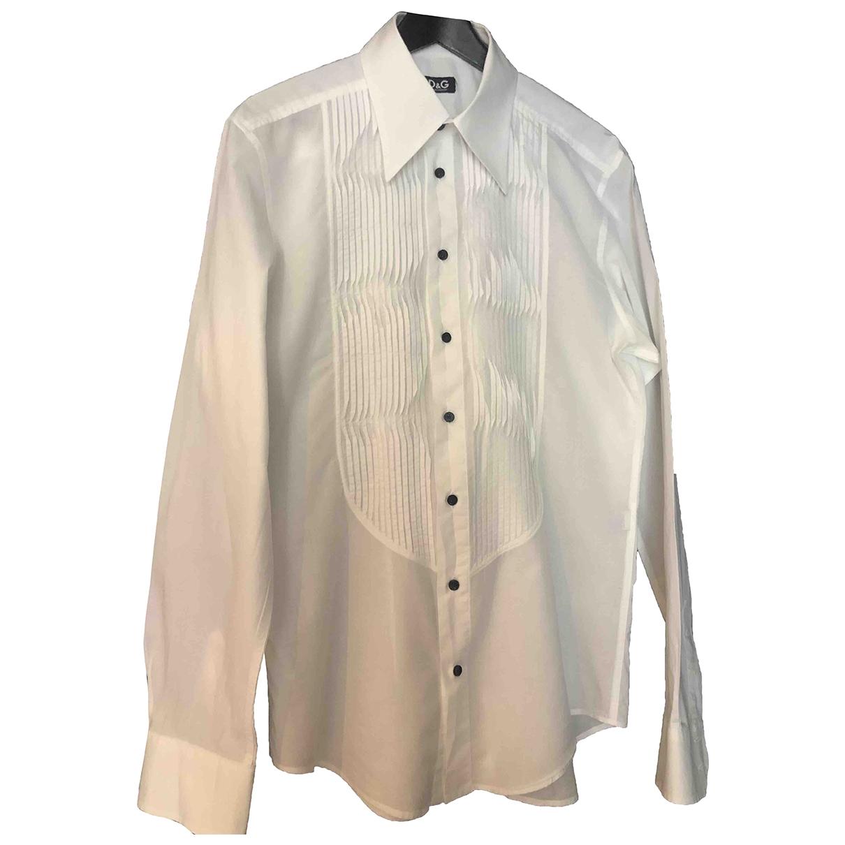 D&g - Chemises   pour homme en coton - blanc