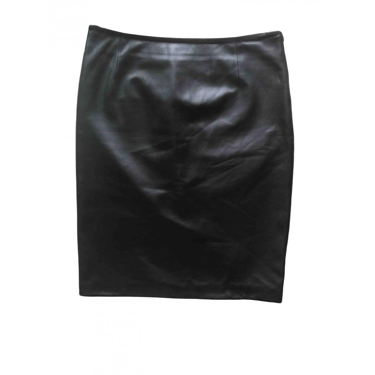 Valentino Garavani - Jupe   pour femme en cuir - noir