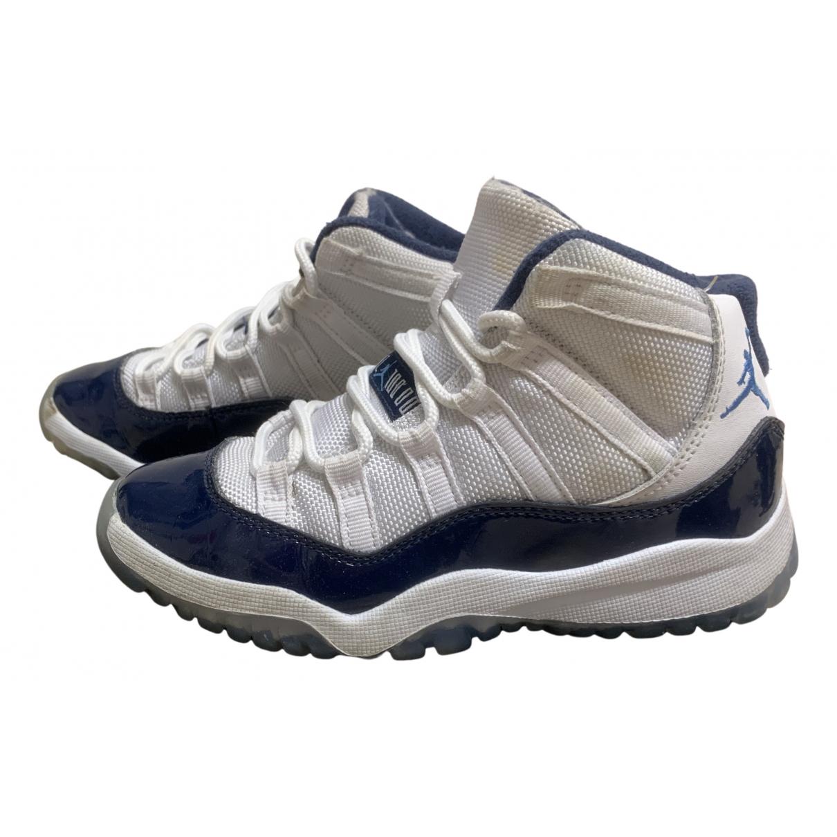 Jordan - Baskets Air Jordan 11 pour enfant en cuir - blanc