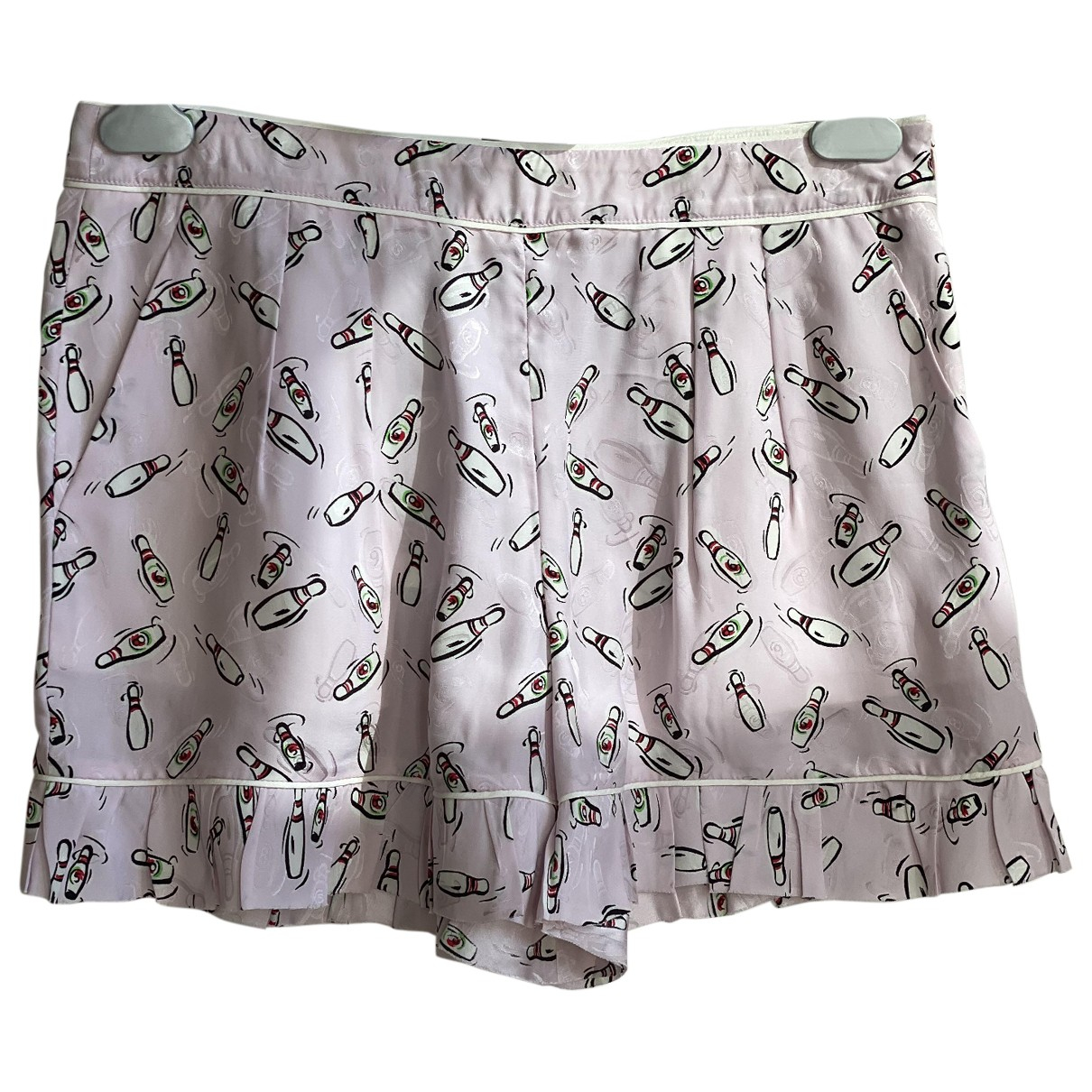 Miu Miu \N Pink Silk Shorts for Women 42 IT