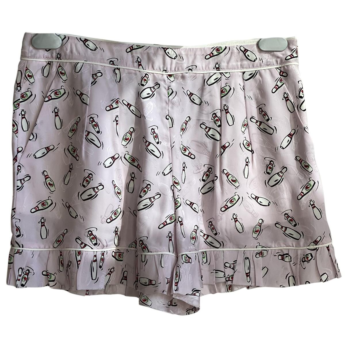 Miu Miu \N Shorts in  Rosa Seide