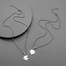 2pcs Men Geo Charm Necklace