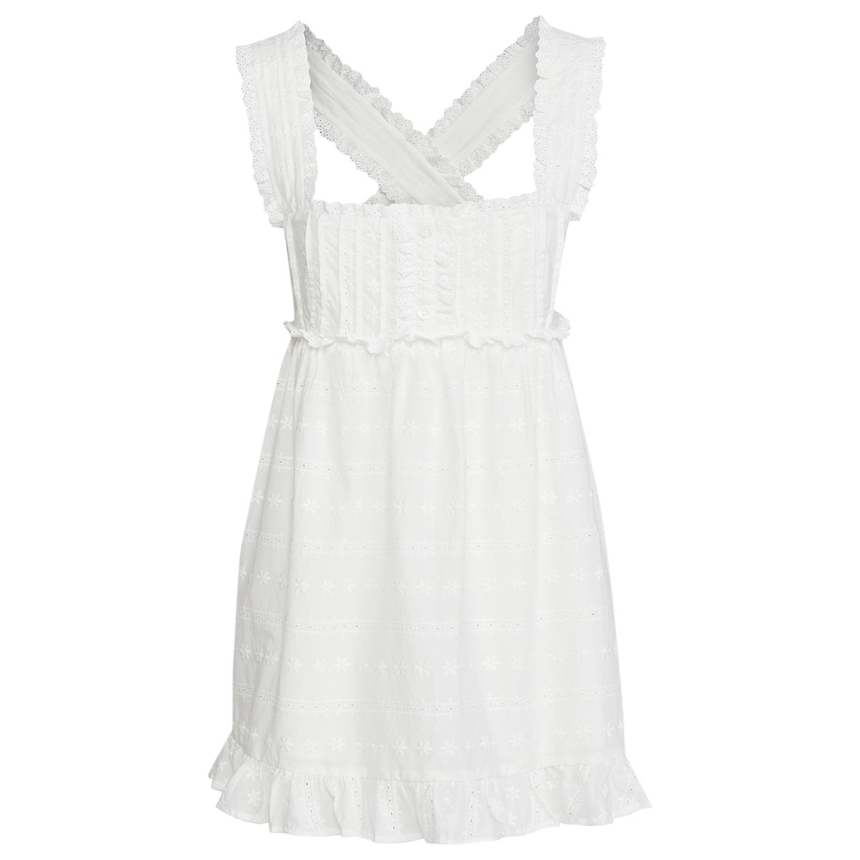 For Love & Lemons - Robe   pour femme en coton - blanc