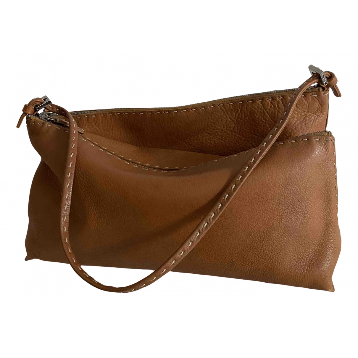 Fendi Anna Selleria  Camel Leather handbag for Women \N