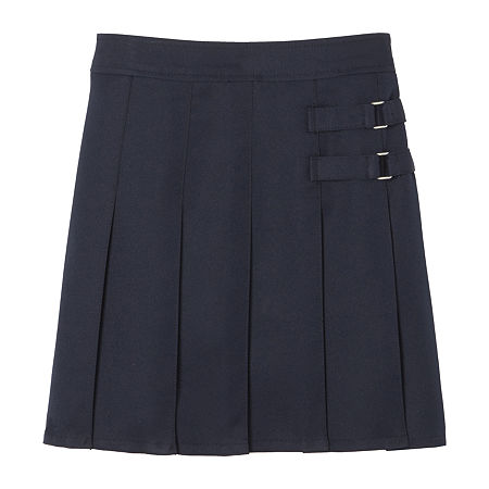 French Toast Little & Big Girls Adjustable Waist Scooter Skirt, 18.5 Plus , Blue