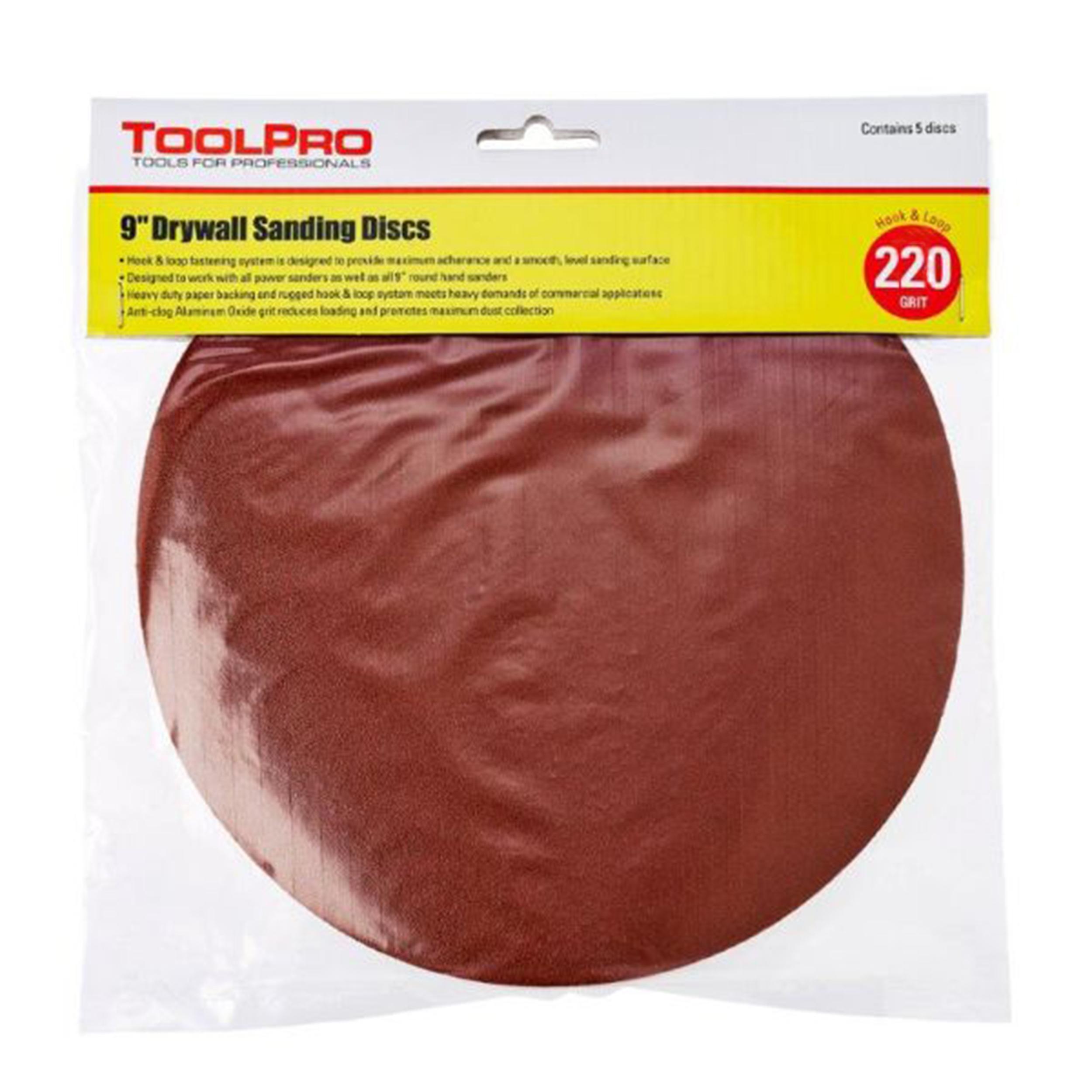 220 Grit Hook and Loop Sanding Discs, 25-Pack