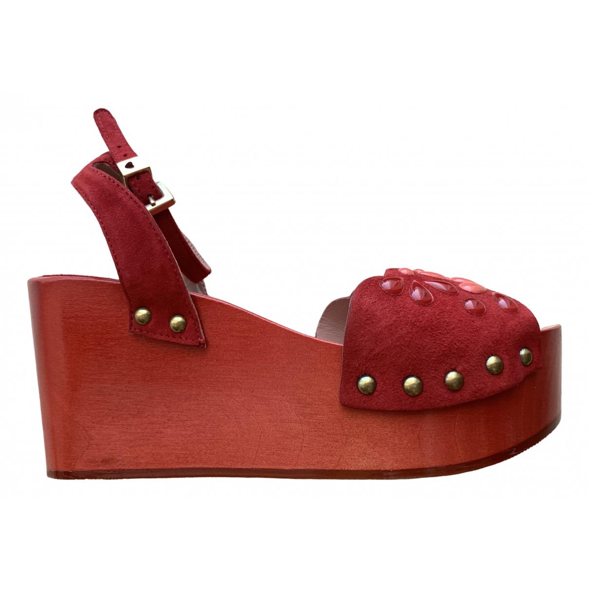 Twin Set \N Red Fur Sandals for Women 36 EU