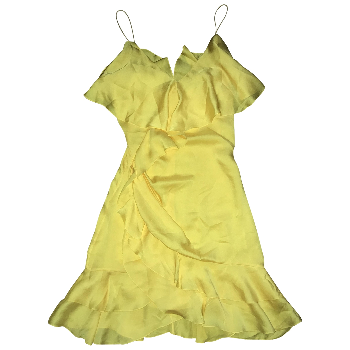 Balmain \N Yellow Silk dress for Women 34 FR