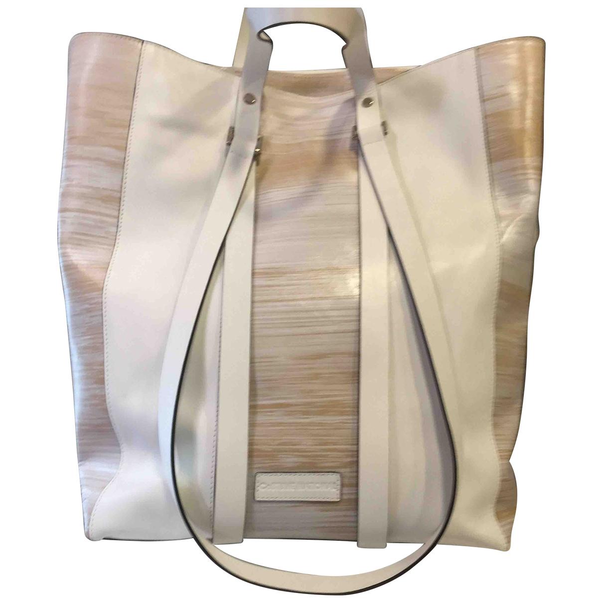 Costume National \N Handtasche in  Weiss Leder