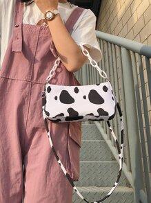 Cow Pattern Satchel Bag