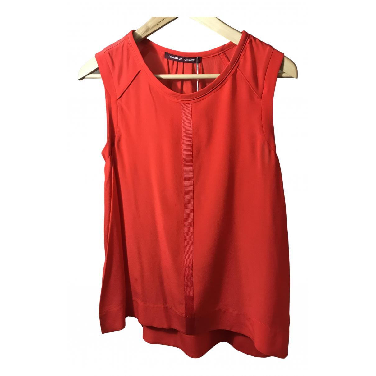 Comptoir Des Cotonniers N Red Silk  top for Women 38 FR