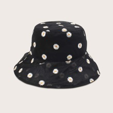 Daisy Pattern Bucket Hat