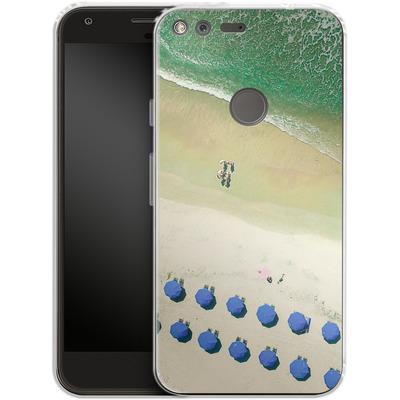 Google Pixel Silikon Handyhuelle - Beach Umbrellas von Joy StClaire