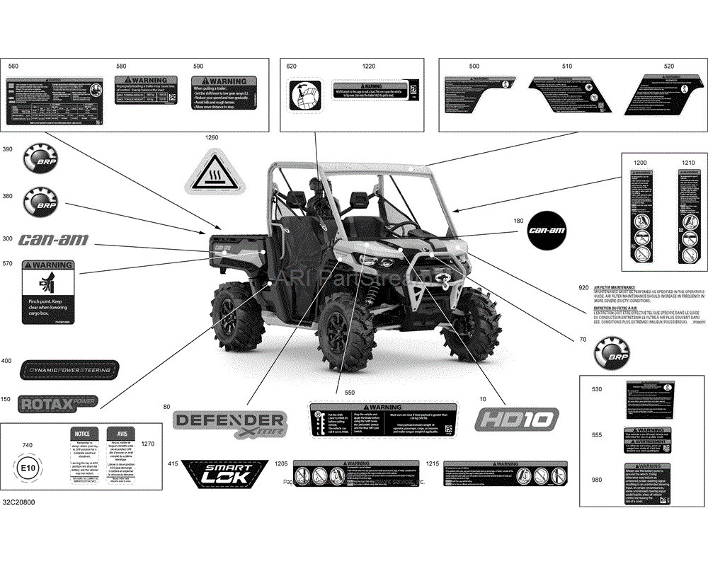 Can-AM OEM Warning Label Operator's Guide