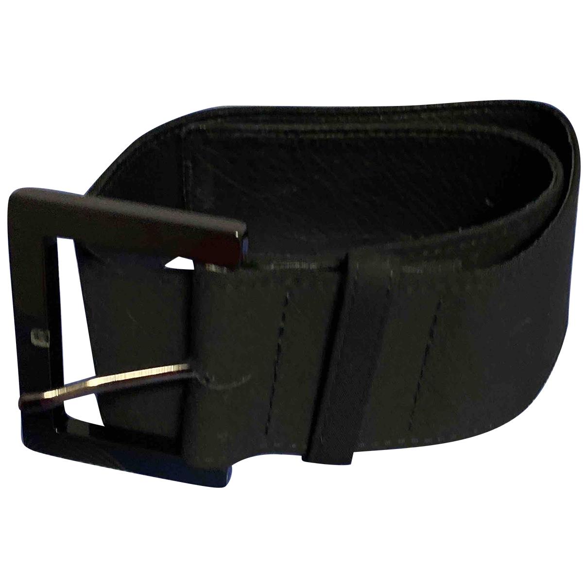 Donna Karan \N Black Leather belt for Women XS International