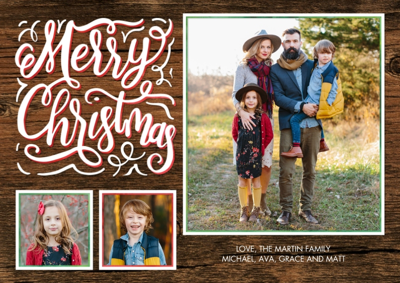 Christmas Photo Cards 5x7 Cards, Premium Cardstock 120lb with Rounded Corners, Card & Stationery -Christmas Chalkboard Greeting by Tumbalina