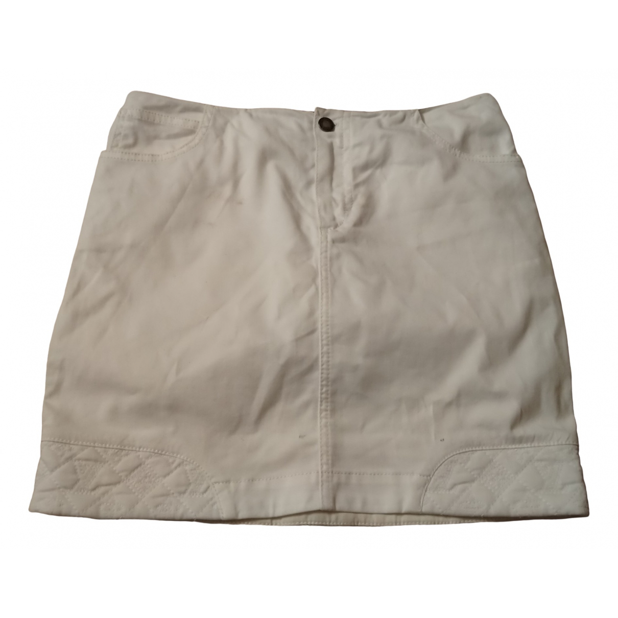 Louis Vuitton \N White Cotton skirt for Women 36 FR