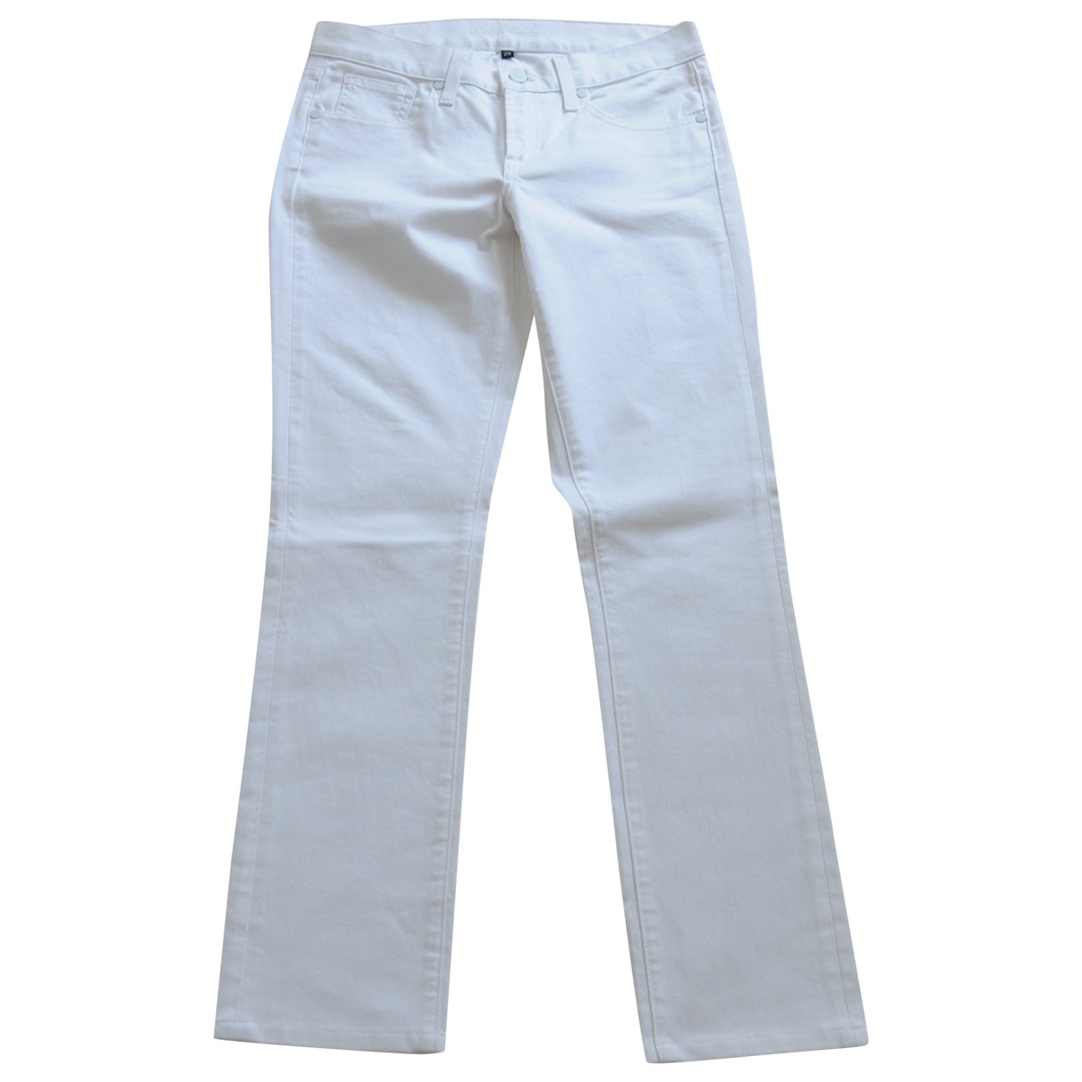 Ralph Lauren \N White Cotton - elasthane Jeans for Women 28 US