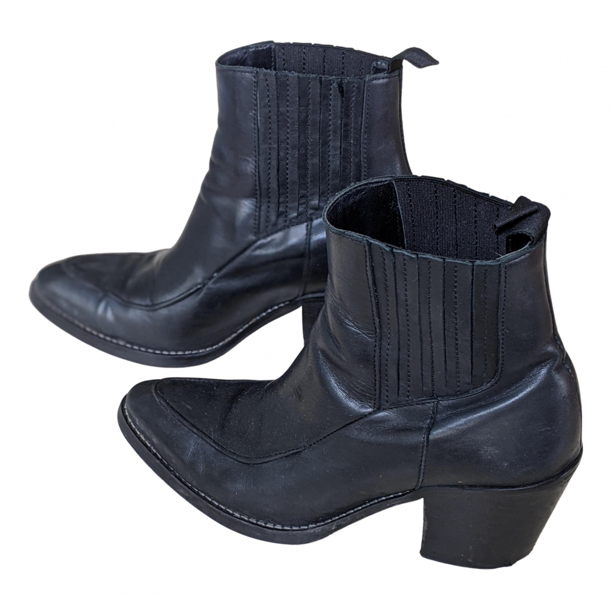 Won Hundred - Bottes   pour femme en cuir - noir