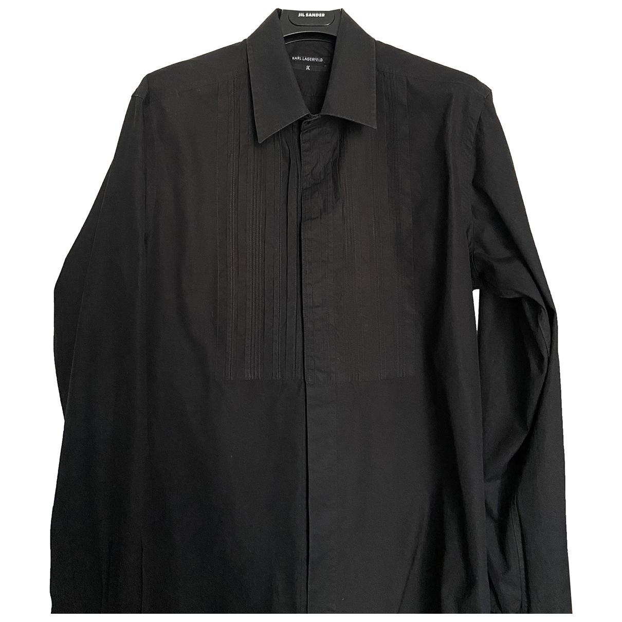 Karl Lagerfeld - Chemises   pour homme en coton - noir