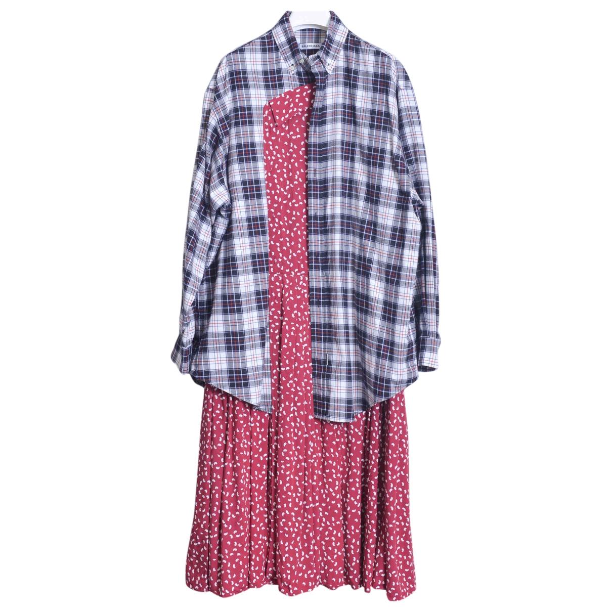 Balenciaga \N Kleid in  Bunt Baumwolle