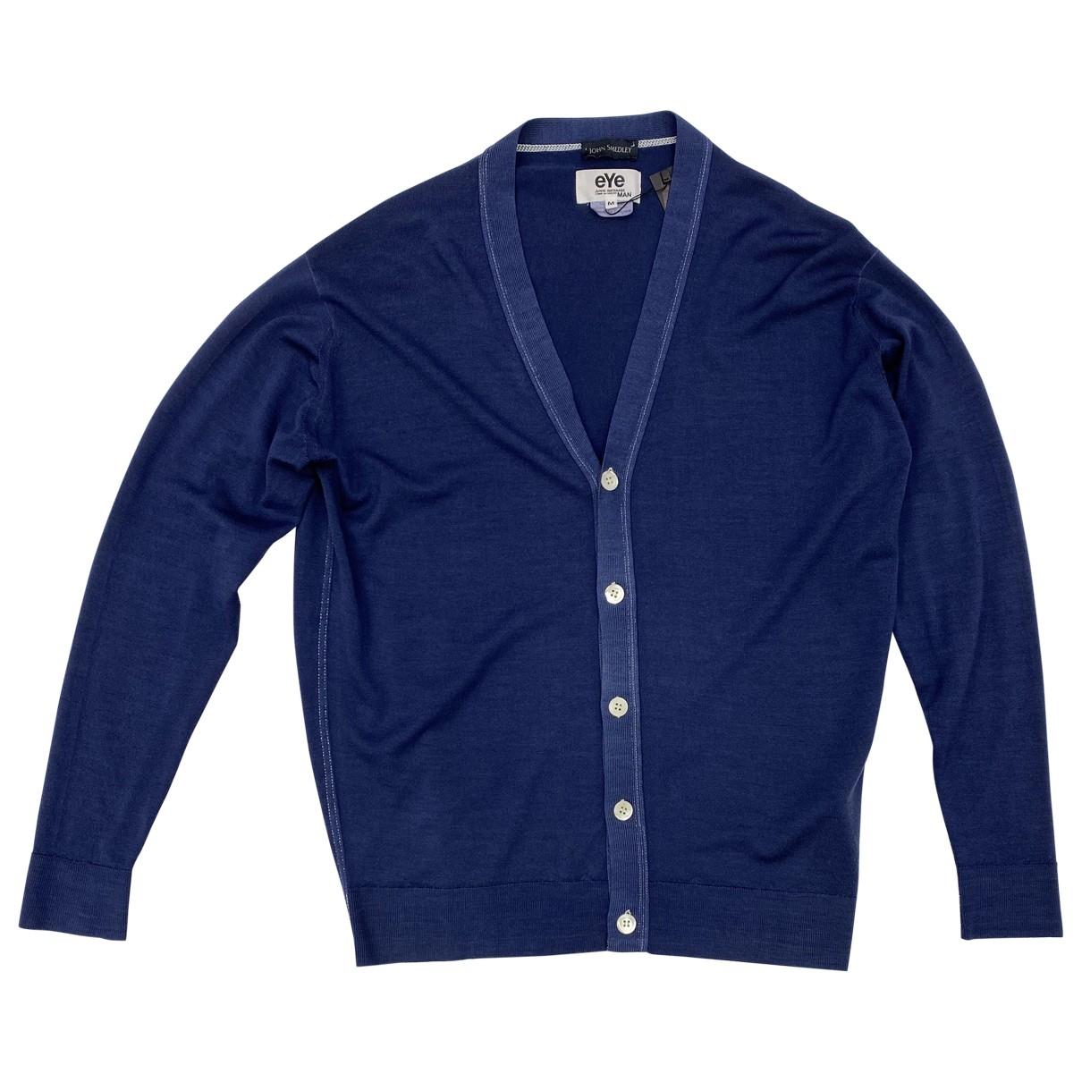 Junya Watanabe \N Pullover.Westen.Sweatshirts  in  Blau Wolle