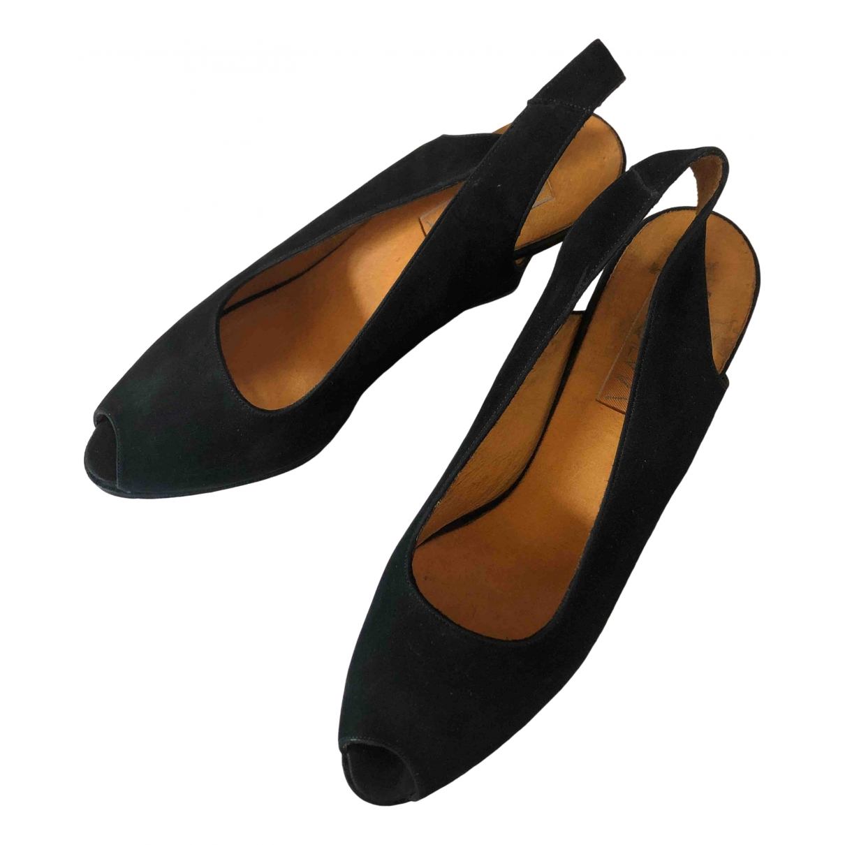 Non Signé / Unsigned \N Black Suede Heels for Women 39 IT