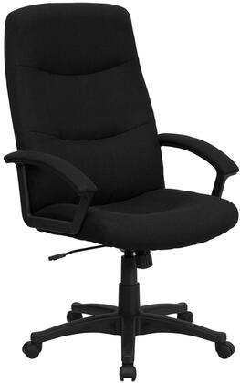 BT134A Collection BT-134A-BK-GG Office Chair with Swivel Seat  Adjustable Height  Dual Wheel Casters  Padded Arms  Tilt Lock Mechanism and Fabric