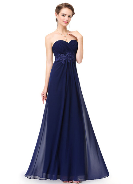 Milanoo Vestido de Dama de Honor Largo de linea A Sin espaldo de encaje hasta el suelo sin mangas con escote en corazon