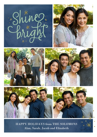 Holiday Photo Cards 5x7 Cards, Standard Cardstock 85lb, Card & Stationery -Shine Bright