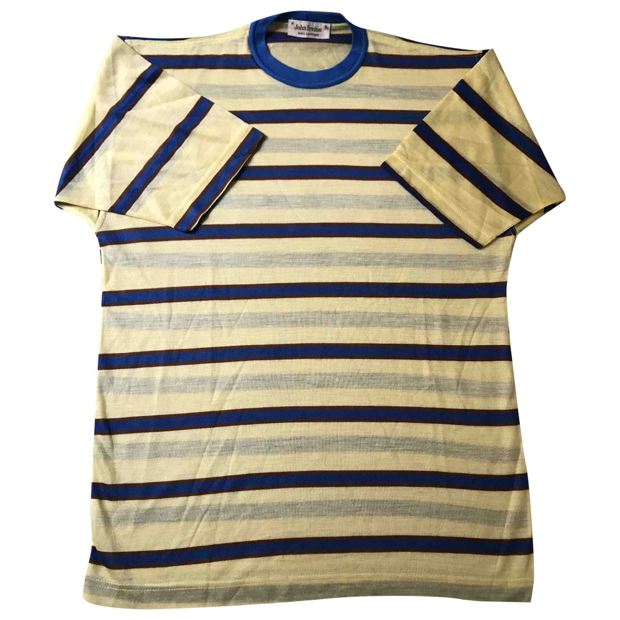 Non Signé / Unsigned Oversize Yellow Cotton T-shirts for Men S International
