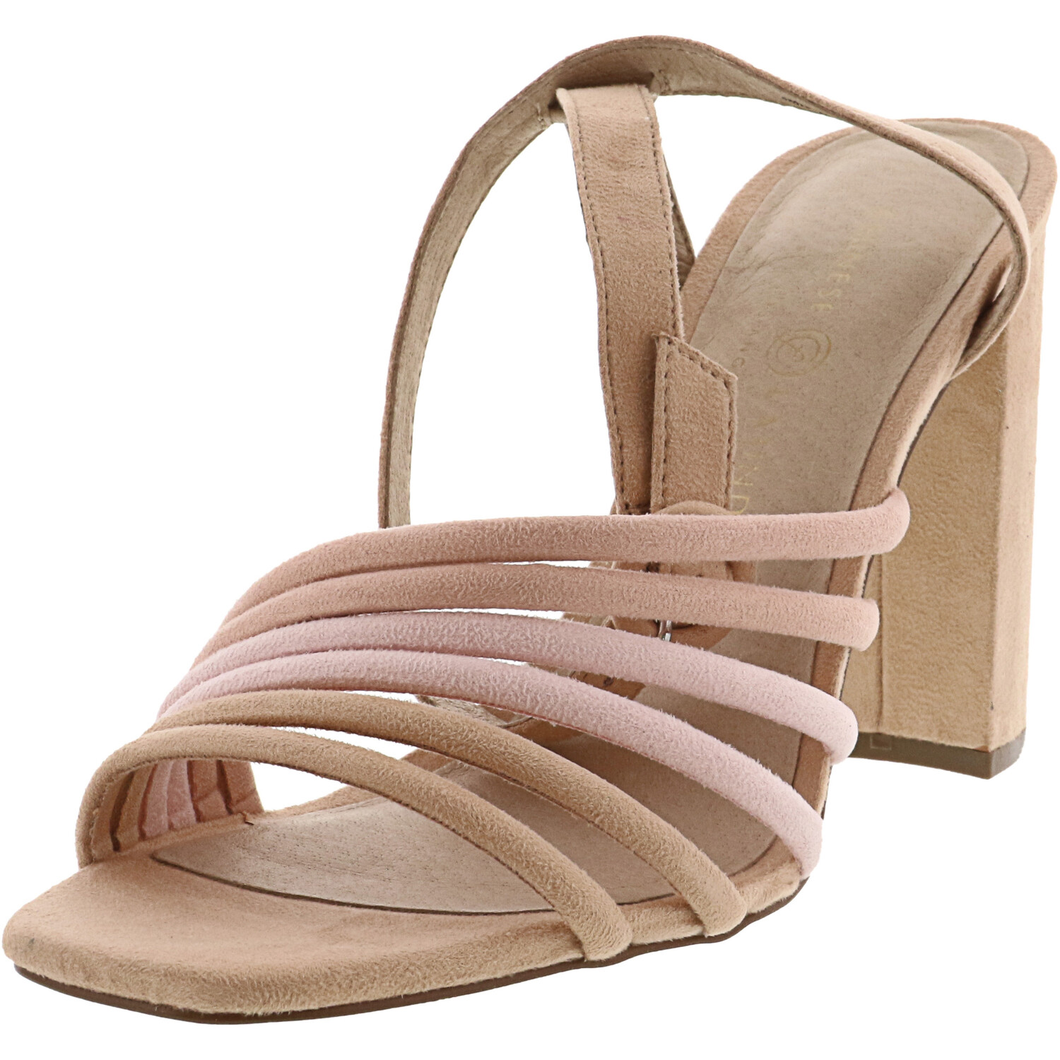 Chinese Laundry Women's Jonah Suede Blush Multi Ankle-High Heel - 9M