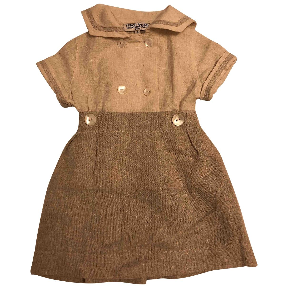 I Pinco Pallino - Robe    pour enfant en soie - beige