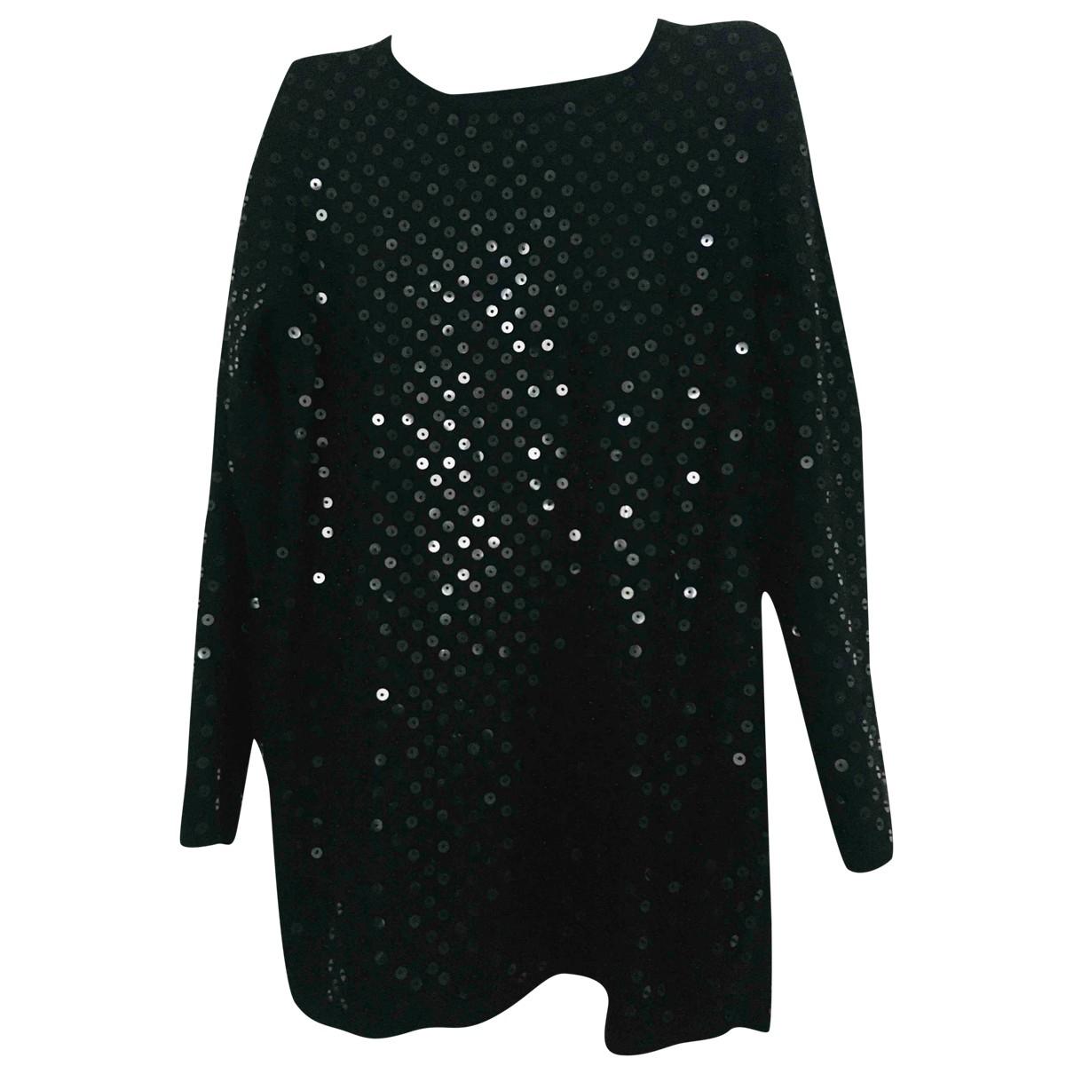Non Signé / Unsigned Oversize Black Wool Knitwear for Women M International