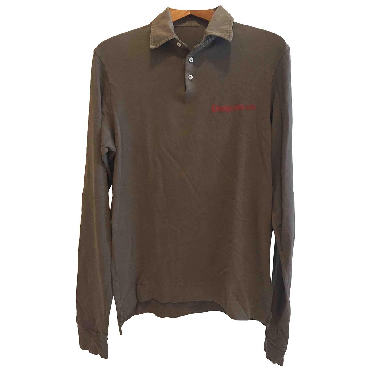 Dsquared2 - Polos   pour homme en coton - marron