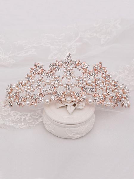 Milanoo Accesorios para el cabello de metal de tiara de boda para la novia