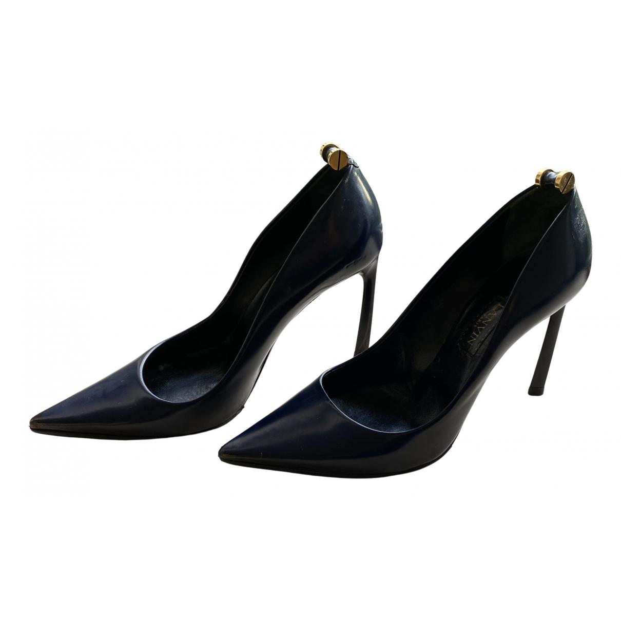 Lanvin - Escarpins   pour femme en cuir - bleu