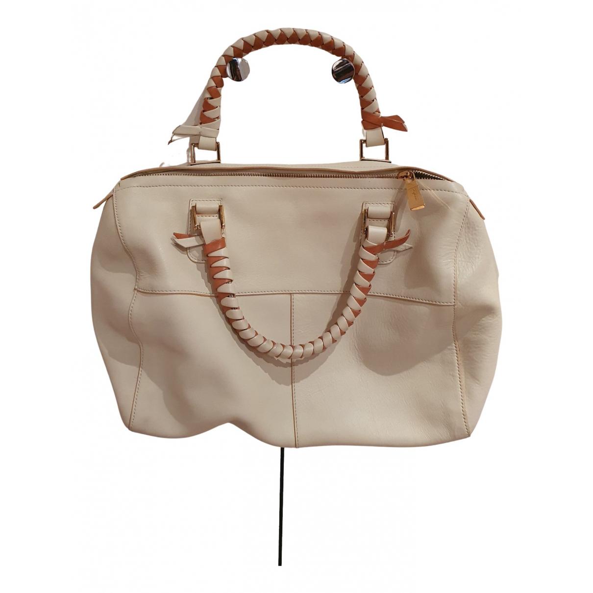 Malo \N Handtasche in  Beige Leder