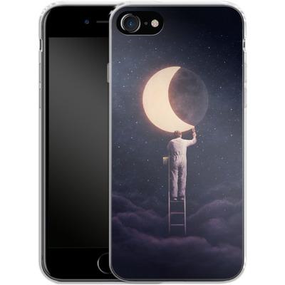 Apple iPhone 8 Silikon Handyhuelle - Carpe Noctem Wide von Enkel Dika