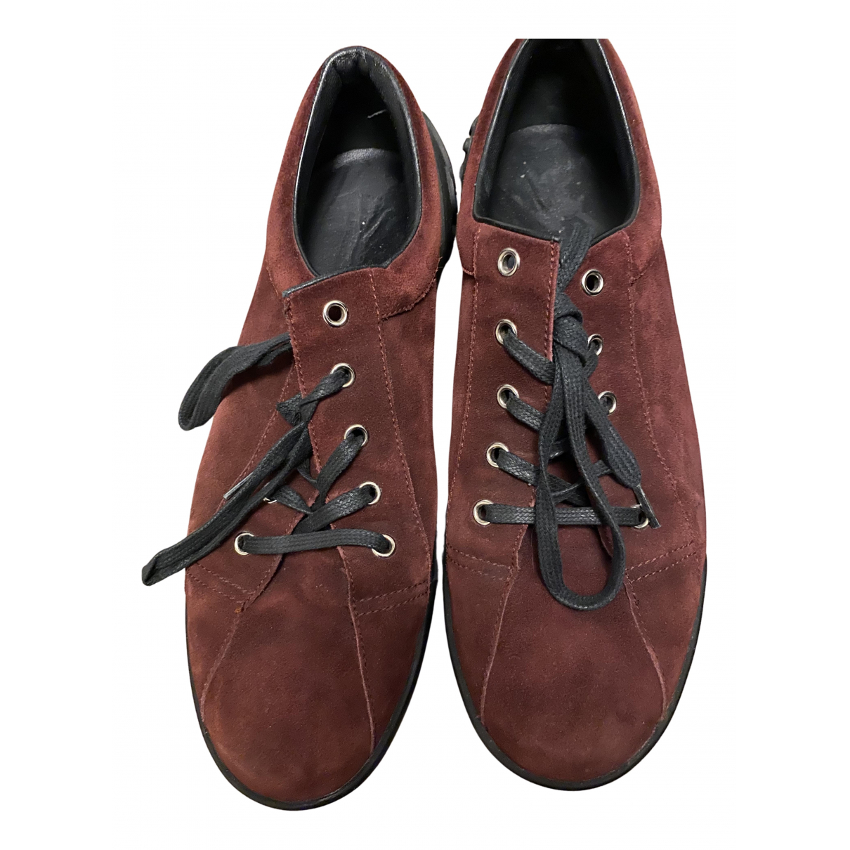 Gucci N Burgundy Suede Trainers for Men 7 UK