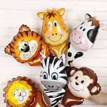 6pcs Cartoon Animal Shaped Balloon